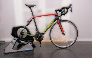 Bicycle on Tacx trainer